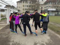 Training in der Gruppe. Da macht Sport Spass…