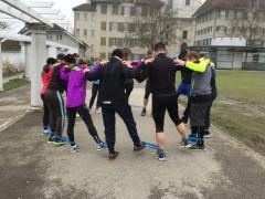 Training in der Gruppe. Da macht Sport Spass…